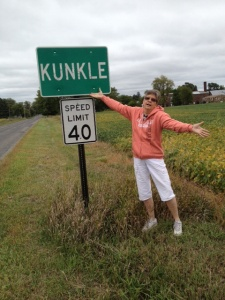 Kunkle, Ohio, Ron's home town.  Population 4052