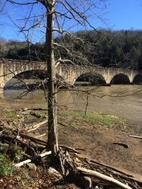 Old bridge crossing river